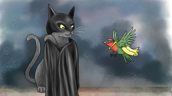 Batcat and Robin